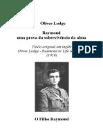 Oliver Lodge - Raymond uma prova da sobrevivància da alma