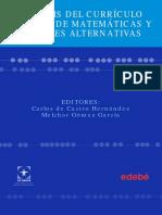 ANÁLISIS DEL CURRÍCULO ACTUAL DE MATEMÁTICAS Y POSIBLES ALTERNATIVAS