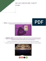 13- Cómo Guardar Las Cartas Del Tarot