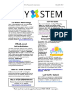 WNY STEM Hub e-newsletter March 2017