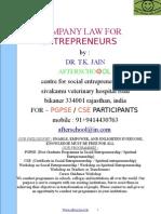 eBook Company Law for Entrepreneurs