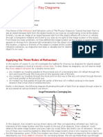 Converging Lenses - Ray Diagrams
