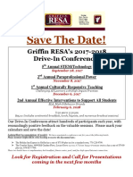 2017-2018 Drive-In Conferences - Save the Date