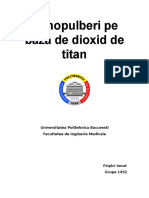 Nanopulberi Pe Baza de Dioxid de Titan