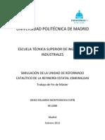 REFORMADOR CATALATICO HYSYS