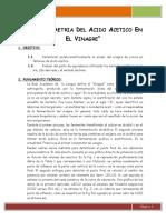 Práctica 1 _Potenciometría Del Acido Acético en El Vinagre
