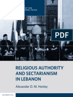 Religious Authority and Sectarianism in Lebanon