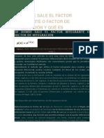 De Donde Sale El Factor Integrante o Factor de Integración y Qué Es