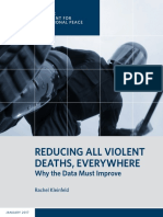 Reducing All Violent Deaths, Everywhere