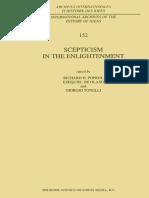 (Archives Internationales d'Histoire Des Idées _ International Archives of the History of Ideas 152) R. H. Popkin (Auth.), Richard H. Popkin, Ezequiel de Olaso, Giorgio Tonelli (Eds.)-Scepticism in Th