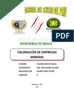 Valoracion de Minas