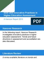 Best InnovativePractices HigherEducationAssessment.june2015FINAL