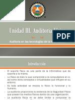 Auditoria - Unidad III. Auditoria de La Seguridad Fisica (1)