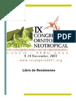 IX Congreso de Ornitología Neotropical Perú (1)