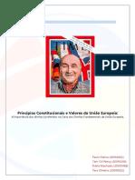 Princípios Constitucionais e Valores da União Europeia