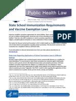 State School ImmunizationRequirementsandVaccineExemptionLaws
