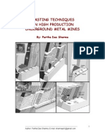 Blasting Techniques in Underground Metal Mines