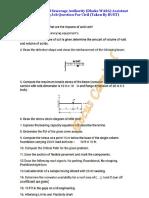 WASA Civil Assistant Engineering job Question Pattern.pdf