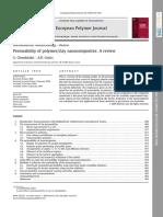 Permeability of Polymer Clay Nano composites