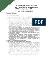 Sistema Nacional de Programacion Multianual y Gestión de Inversiones