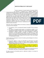Documentos Públicos y Oficiales