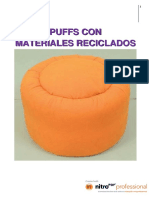 Puffs con materiales reciclados