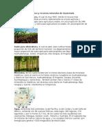 Regiones y Recursos Naturales de Guatemala