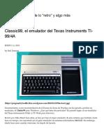 Classic99, El Emulador Del Texas Instruments TI-99_4A _