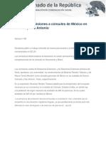 09-03-17 Ratifican Comisiones a Cónsules de México en Denver y San Antonio.