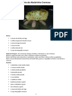 Torta de Abobrinha Cremosa