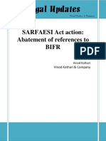 Abatement of References to BIFR