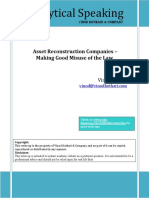 Analysis on Asset Reconstruction Companies - Making Good Misuse of the Law