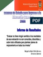 Informe resultados 2006