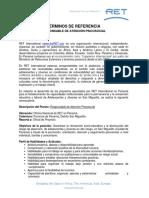 RET Panama ToR Responsable de Atención Psicosocial