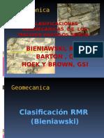 Clasificacion Geomecanica de Los Macizos Rocosos