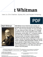 poetry-walt whitman presentation