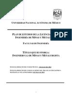 Ingeniería de Minas y Metalurgia UNAM