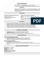 Jose Pilapil - Resume Updated