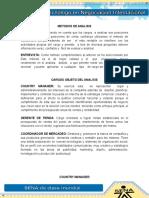 Evidencia 3 Sustentacion de analisis de cargo