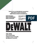 Serra Mármore - DeWALT - DW860 - Manual de Instruções