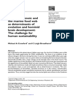 The Role of Docosahexaenoic and the Marine Food Web as Determinants of Evolution and Hominid Brain Development the Challenge for Human Sustainability