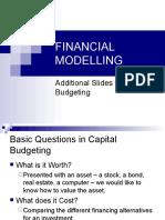 Financial Modelling 2009 - Cap Budgeting