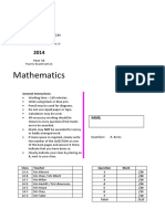 Sydney Boys 2014 Year 10 Maths Yearly & Solutions