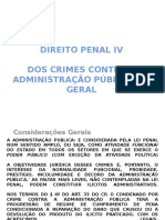 DIREITO PENAL IV - crimes contra adm.ppt