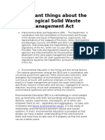 Important Things About the Ecological Solid Waste Management Act