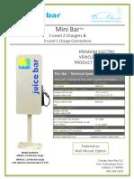 Mini Bar - Single Spec Sheet