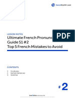 2. Top 5 French Mistakes to Avoid