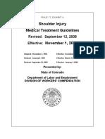 Shoulder Injury Medical Treatment Guidelines