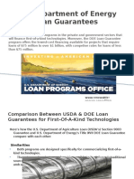 U.S.department of Energy Loan Guarantees