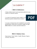 ESTADO DE SITUACION FINANCIERA, LA CUENTA T